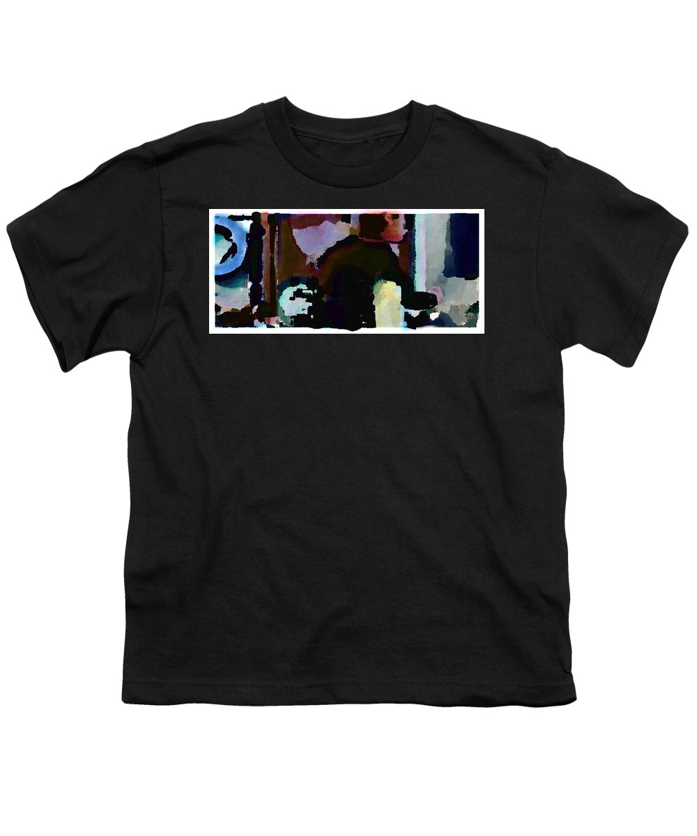 Abstract Expressionism Youth T-Shirt featuring the painting Lunch Counter by Steve Karol