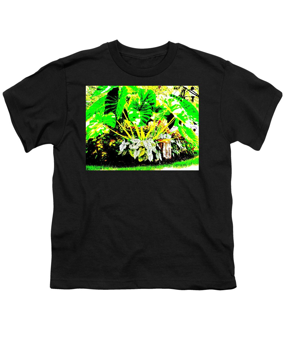 Plants Youth T-Shirt featuring the photograph Lush Garden by Ed Smith