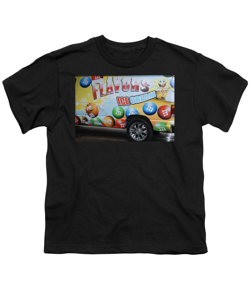 Sponge Bob Youth T-Shirt featuring the photograph M And M Flavors For The Kids by Rob Hans