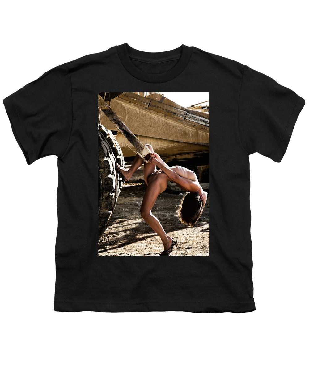 Sensual Youth T-Shirt featuring the photograph Machinery by Olivier De Rycke