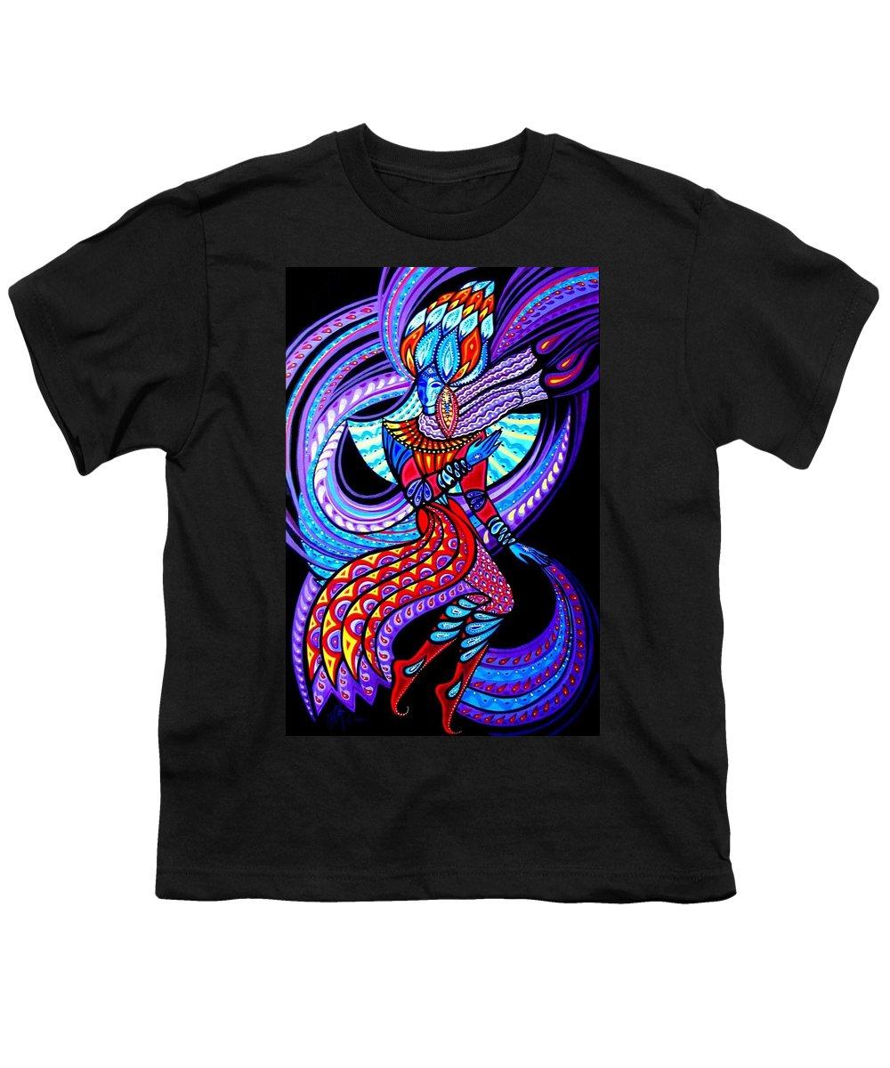Inga Vereshchagina Youth T-Shirt featuring the painting Magic Dance In The Void by Inga Vereshchagina