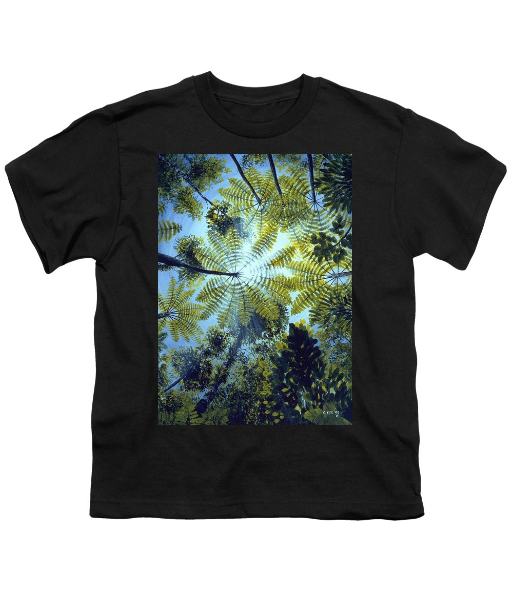 Chris Cox Youth T-Shirt featuring the painting Majestic Treeferns by Christopher Cox