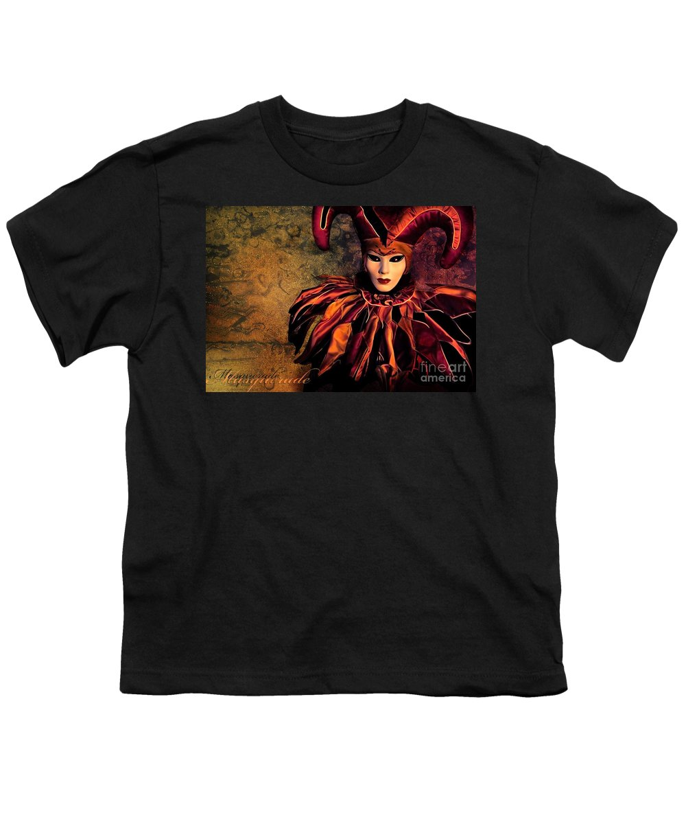 Mask Youth T-Shirt featuring the photograph Masquerade by Jacky Gerritsen