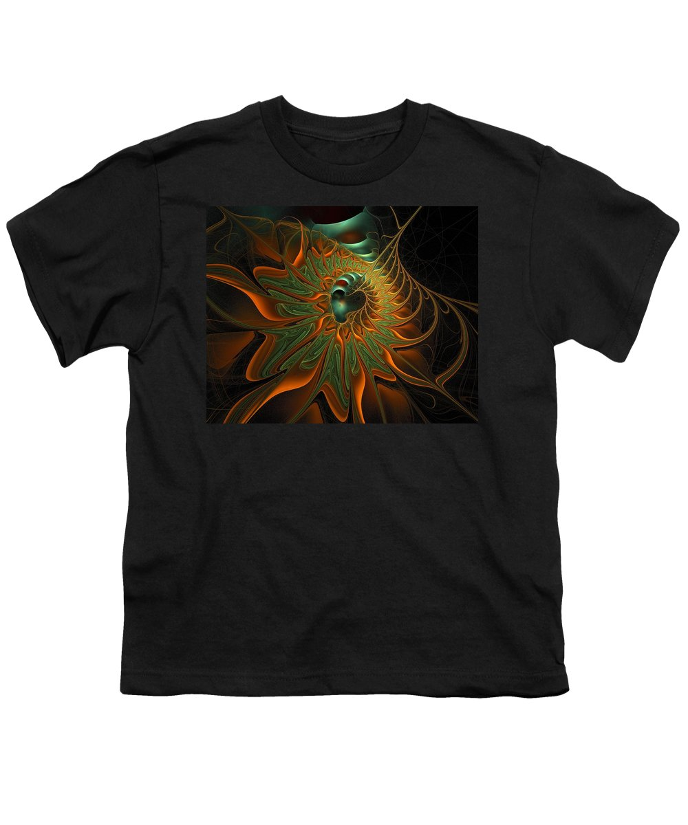 Digital Art Youth T-Shirt featuring the digital art Meandering by Amanda Moore