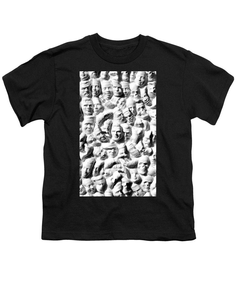Figure Youth T-Shirt featuring the sculpture Melancholic Journey 1 by Mark Cawood