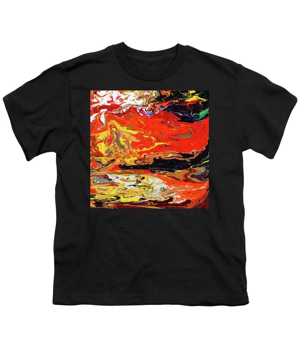 Fusionart Youth T-Shirt featuring the painting Melt by Ralph White