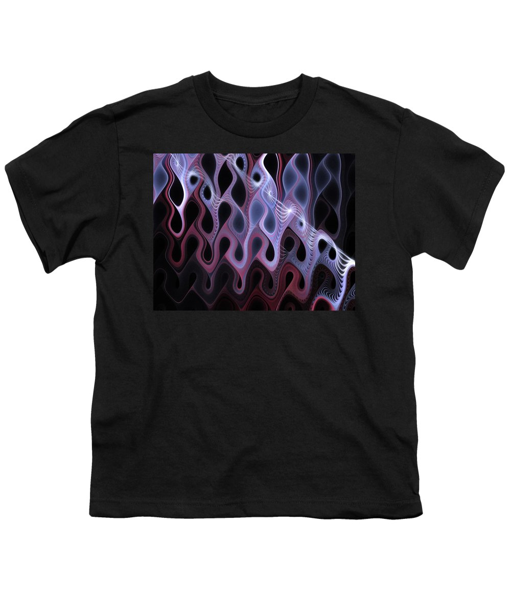 Digital Art Youth T-Shirt featuring the digital art Meltdown by Amanda Moore