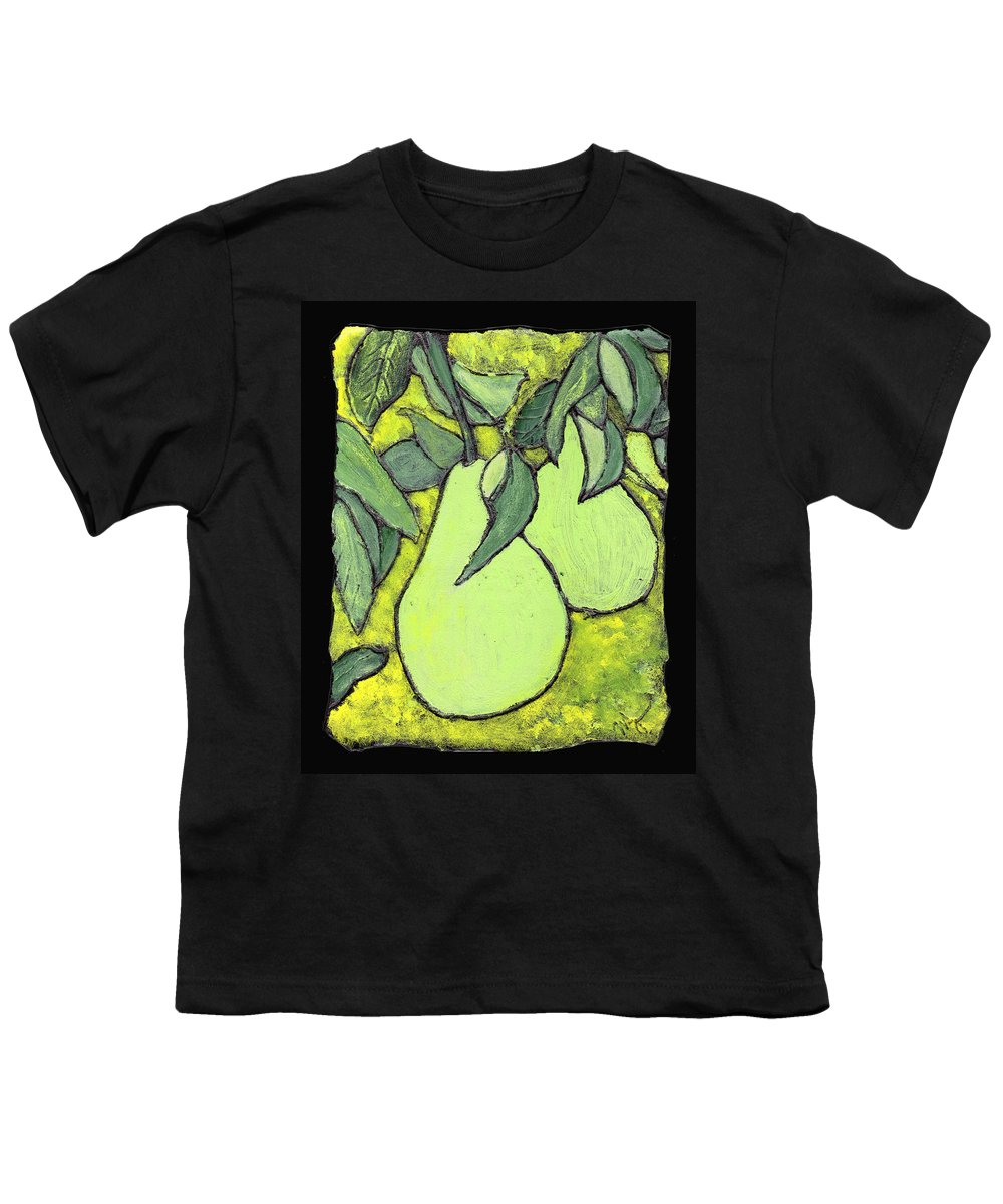 Pears Youth T-Shirt featuring the painting Michigan Pears by Wayne Potrafka