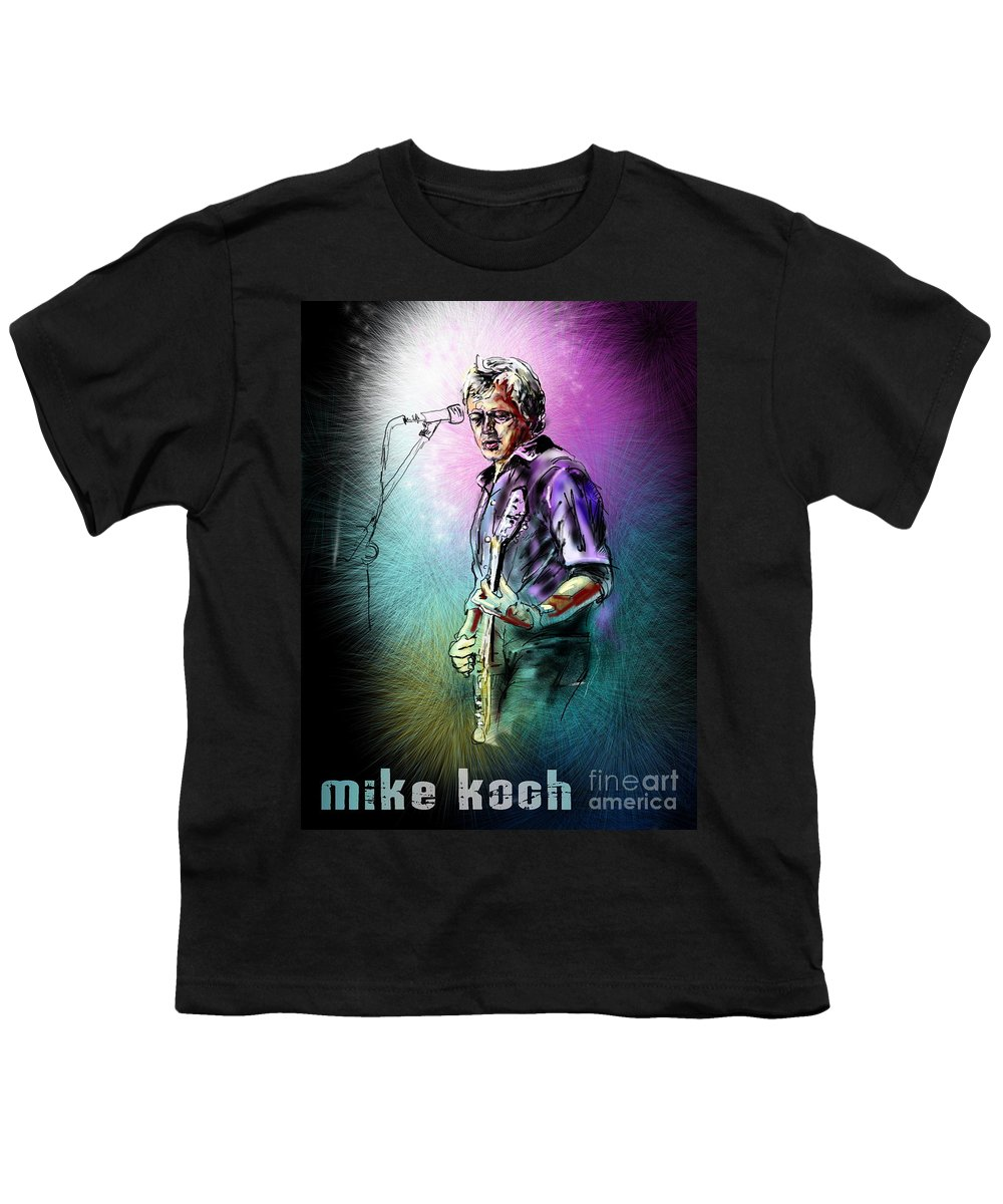 Mike Koch Portrait Youth T-Shirt featuring the digital art Mike Koch by Miki De Goodaboom