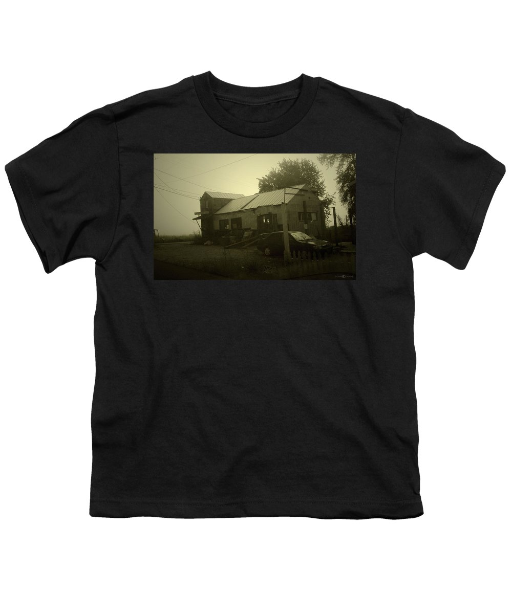 Milltown Youth T-Shirt featuring the photograph Milltown Merchantile by Tim Nyberg