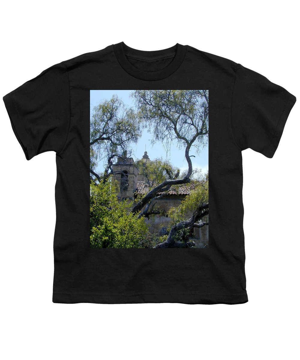 Mission Youth T-Shirt featuring the photograph Mission At Carmell by Douglas Barnett