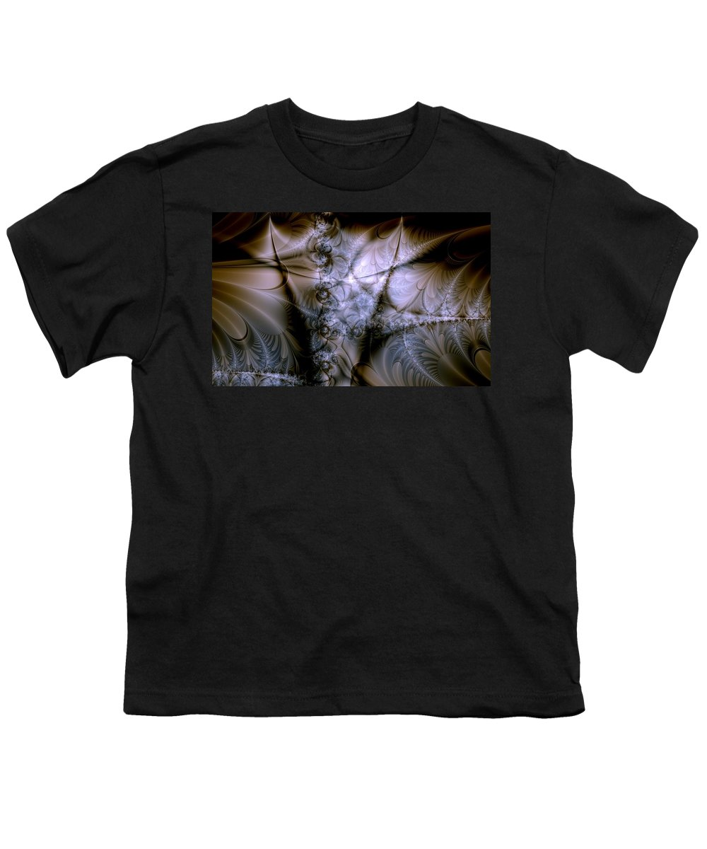 Chocolate Youth T-Shirt featuring the digital art Molecular Cacao by Casey Kotas
