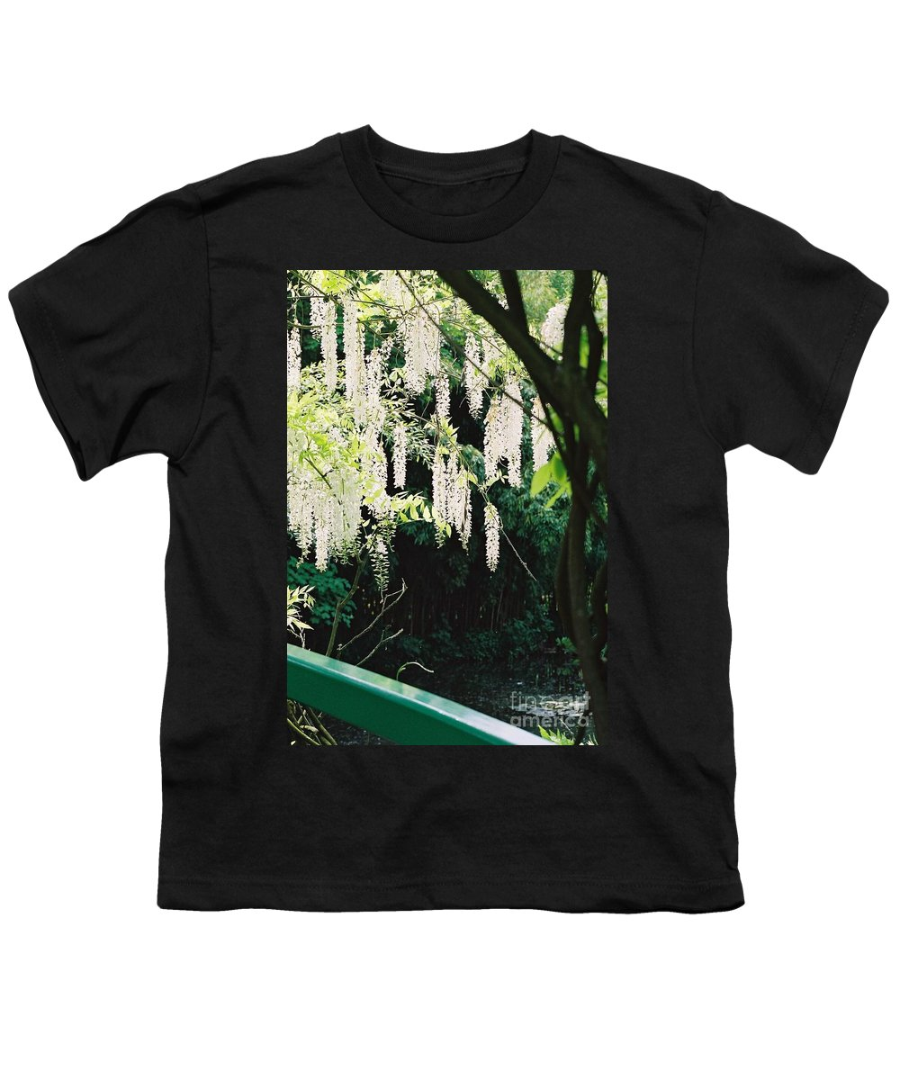 Monet Youth T-Shirt featuring the photograph Monet's Garden Delights by Nadine Rippelmeyer