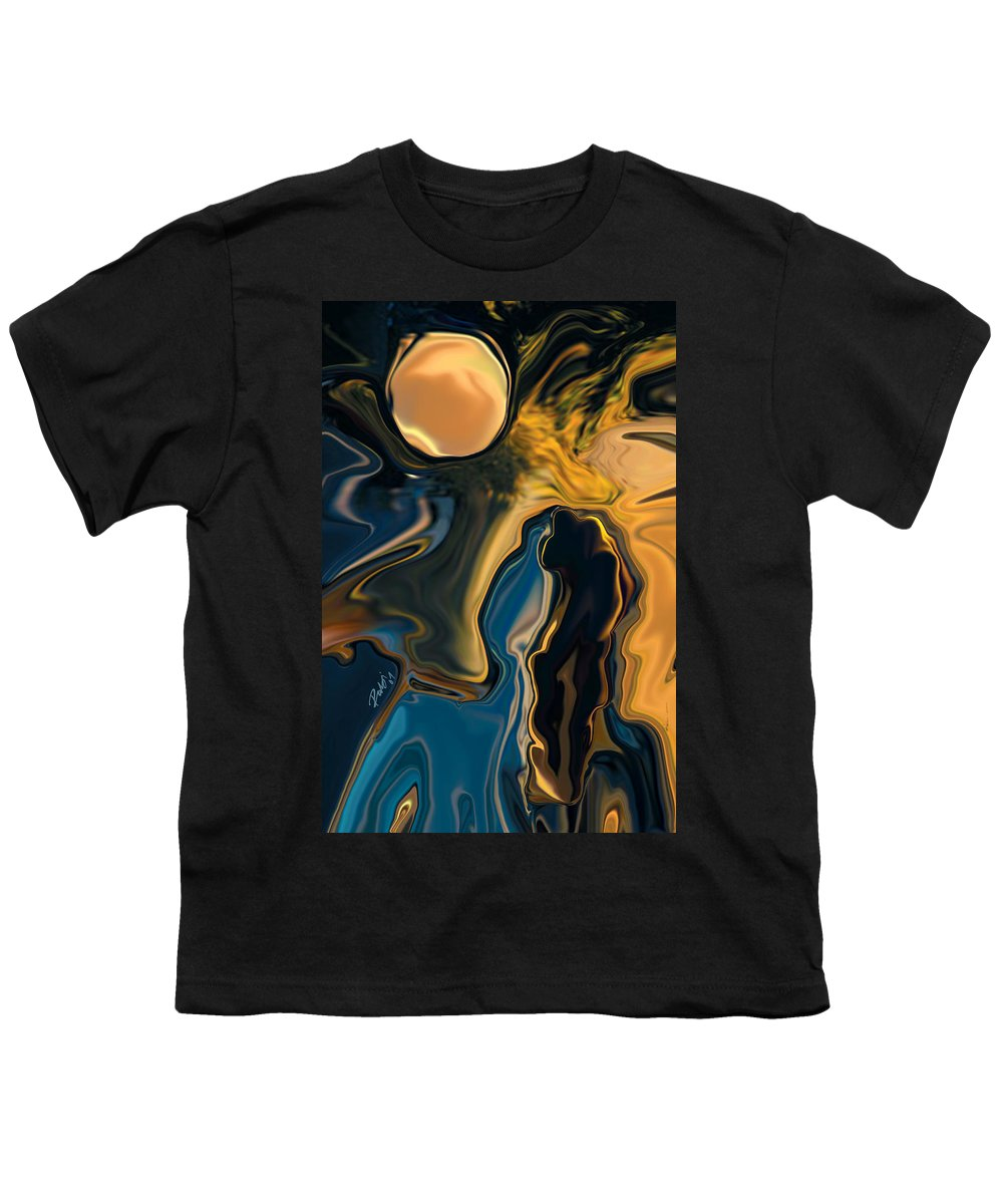 Moon Youth T-Shirt featuring the digital art Moon And Fiance by Rabi Khan