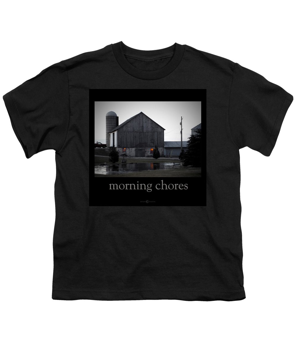 Poster Youth T-Shirt featuring the photograph Morning Chores by Tim Nyberg