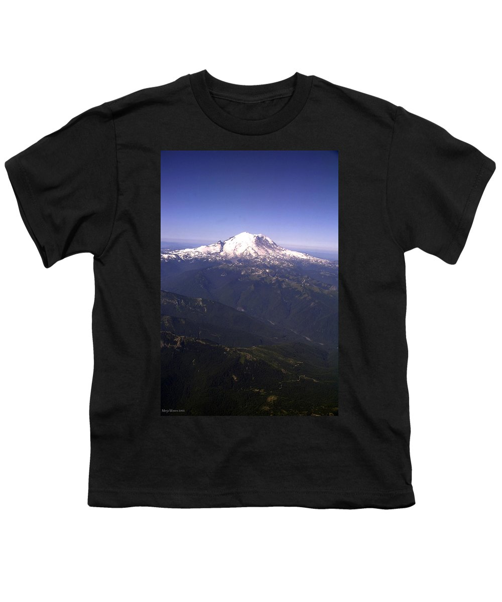 Mount Rainier Youth T-Shirt featuring the photograph Mount Rainier Washington State by Merja Waters
