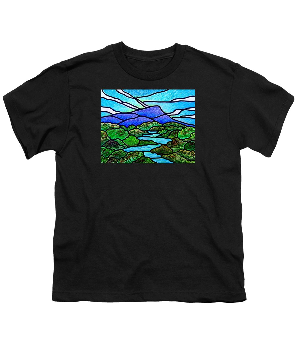 Paintings Youth T-Shirt featuring the painting Mountain Glory by Jim Harris