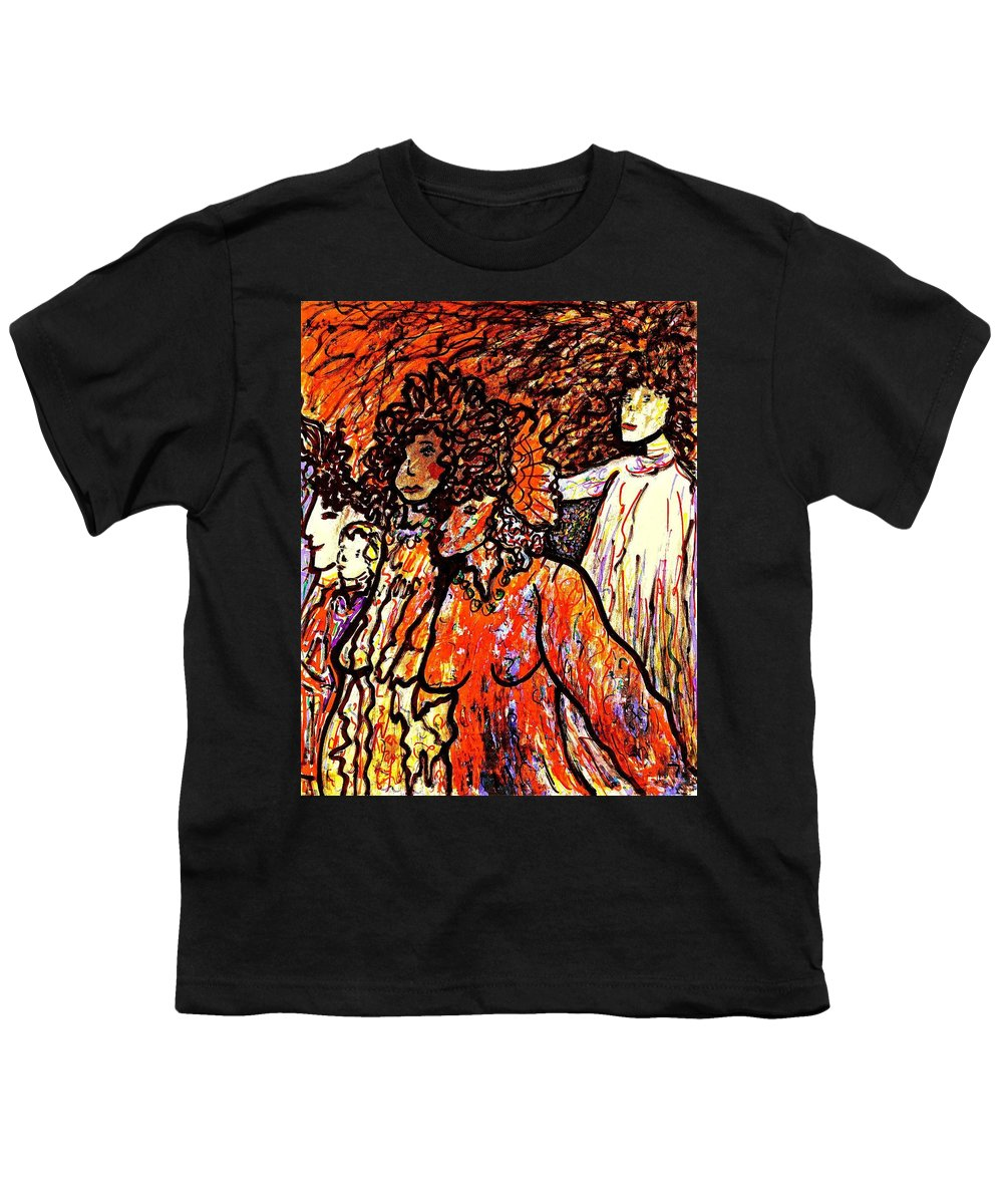 Figurative Art Youth T-Shirt featuring the painting Musical Recital by Natalie Holland