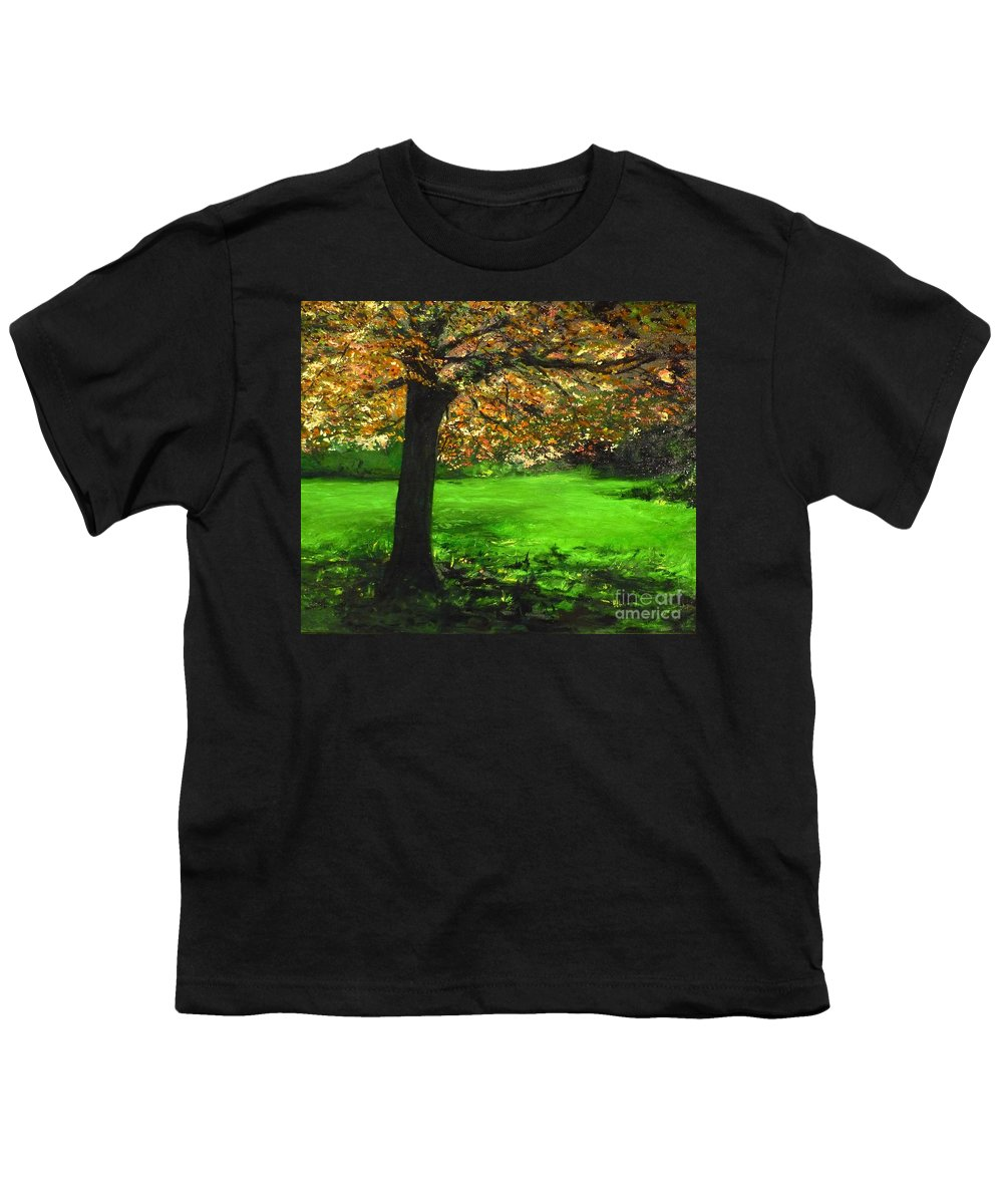 Spiritualism Youth T-Shirt featuring the painting My Love Of Trees I by Lizzy Forrester