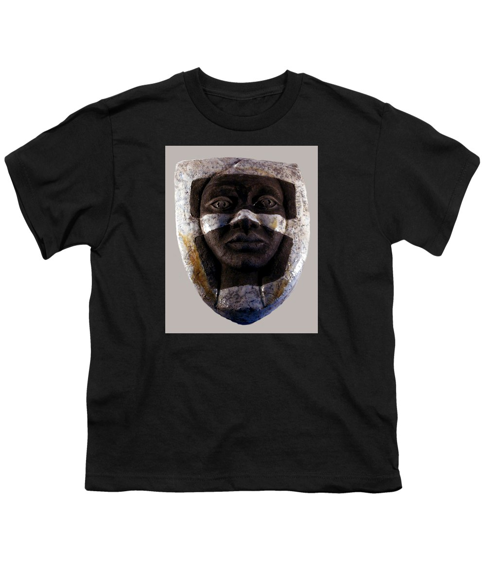 Ceramic Youth T-Shirt featuring the relief My Veils I by Madalena Lobao-Tello