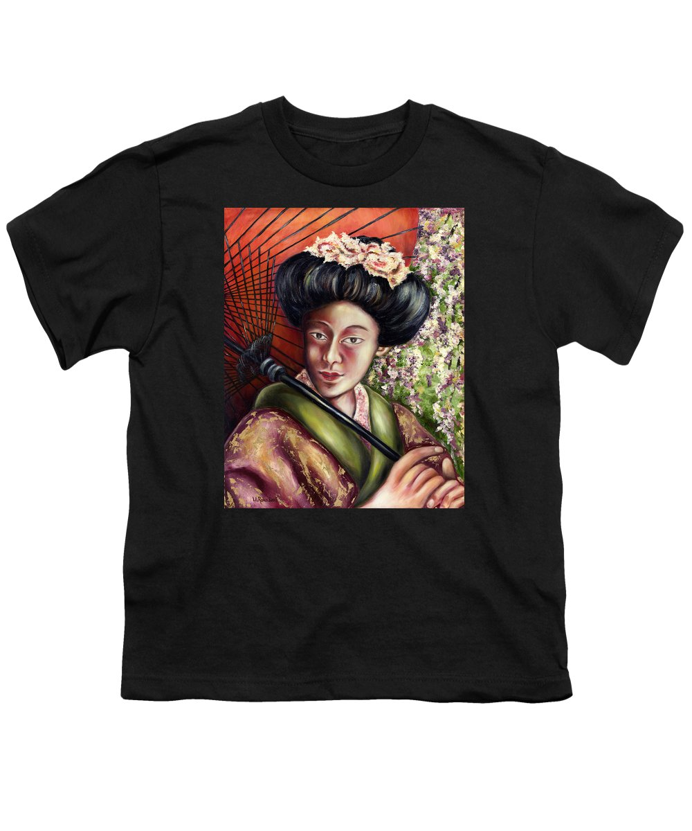 Japanese Youth T-Shirt featuring the painting Nadeshiko by Hiroko Sakai