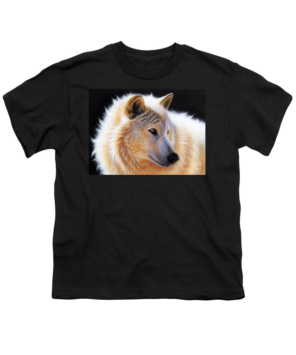 Acrylic Youth T-Shirt featuring the painting Nala by Sandi Baker