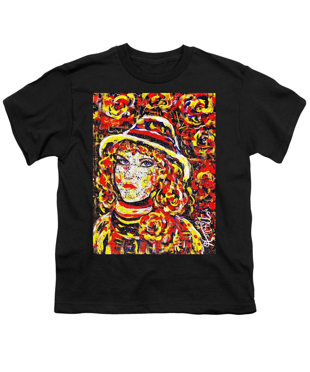 Woman Youth T-Shirt featuring the painting Nat With The Hat by Natalie Holland
