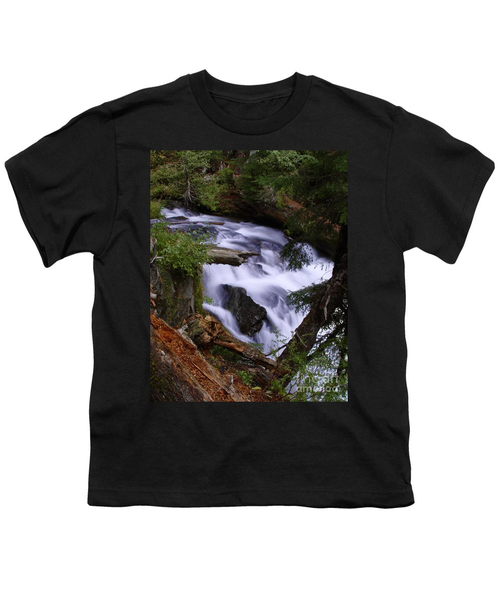 Waterfall Youth T-Shirt featuring the photograph National Creek Falls 03 by Peter Piatt