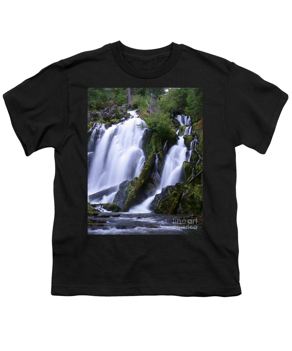 Waterfall Youth T-Shirt featuring the photograph National Creek Falls 09 by Peter Piatt