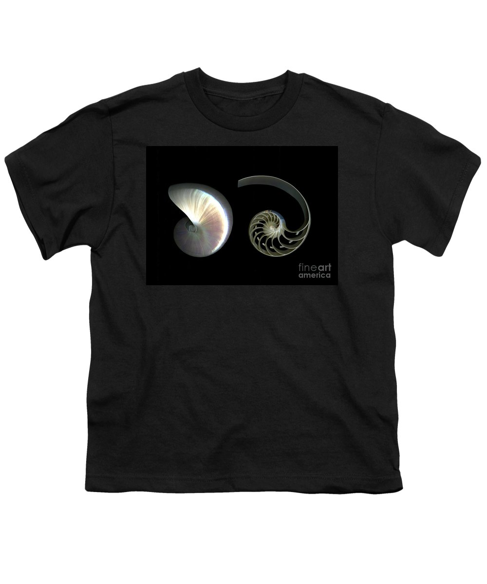 Nautilus Youth T-Shirt featuring the photograph Nautilus Deconstructed by Christian Slanec