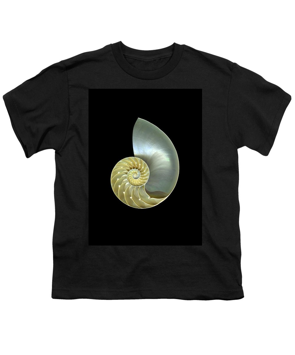 Slanec Youth T-Shirt featuring the photograph Nautilus Nr.1 by Christian Slanec