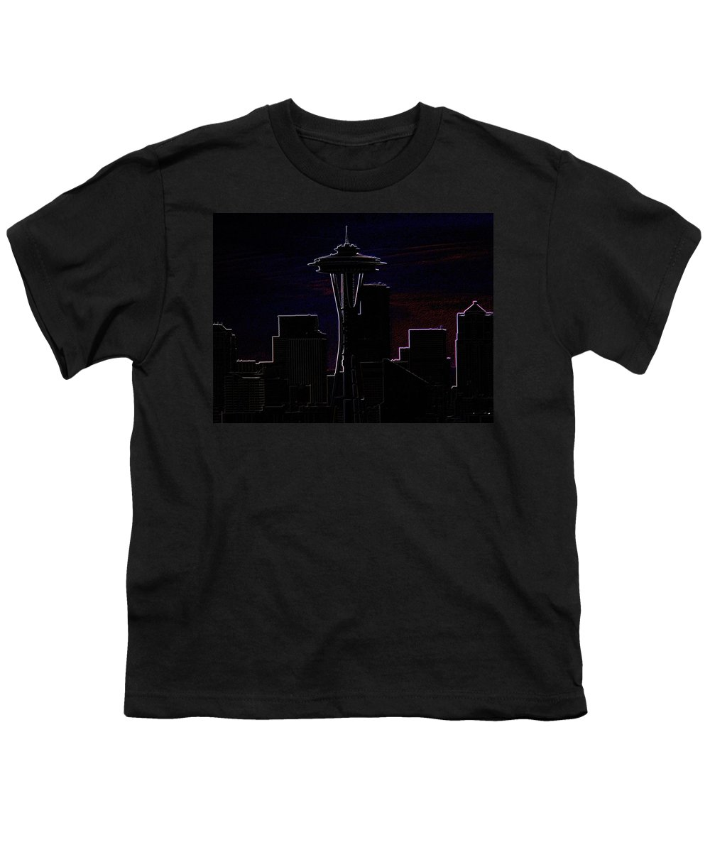 Seattle Youth T-Shirt featuring the photograph Needle From Kerry Park 2 by Tim Allen