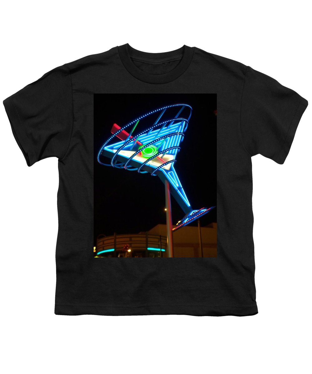 Fremont East Youth T-Shirt featuring the photograph Neon Signs 4 by Anita Burgermeister