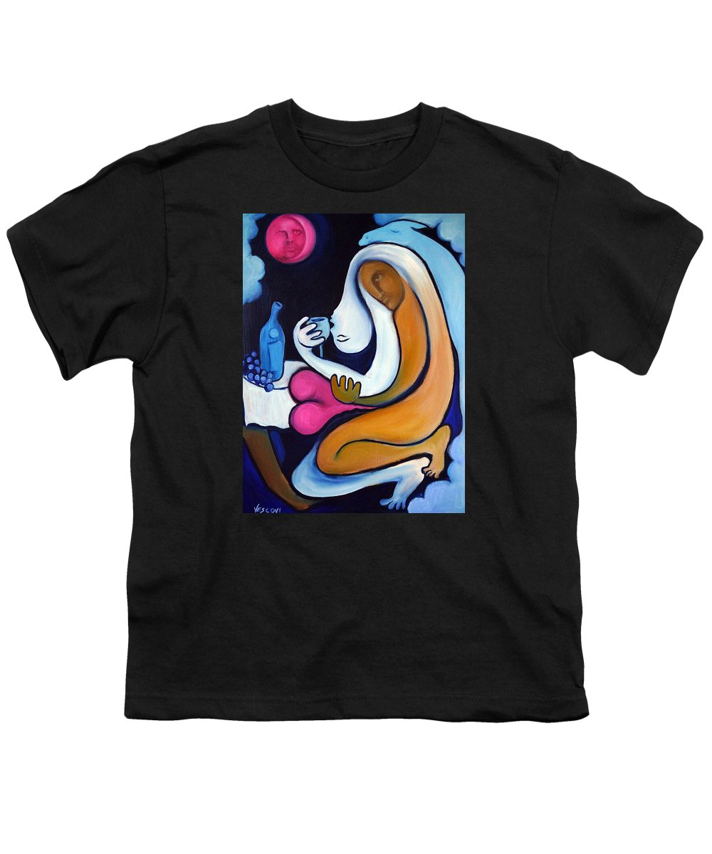 Abstract Youth T-Shirt featuring the painting Never Tear Us Apart by Valerie Vescovi