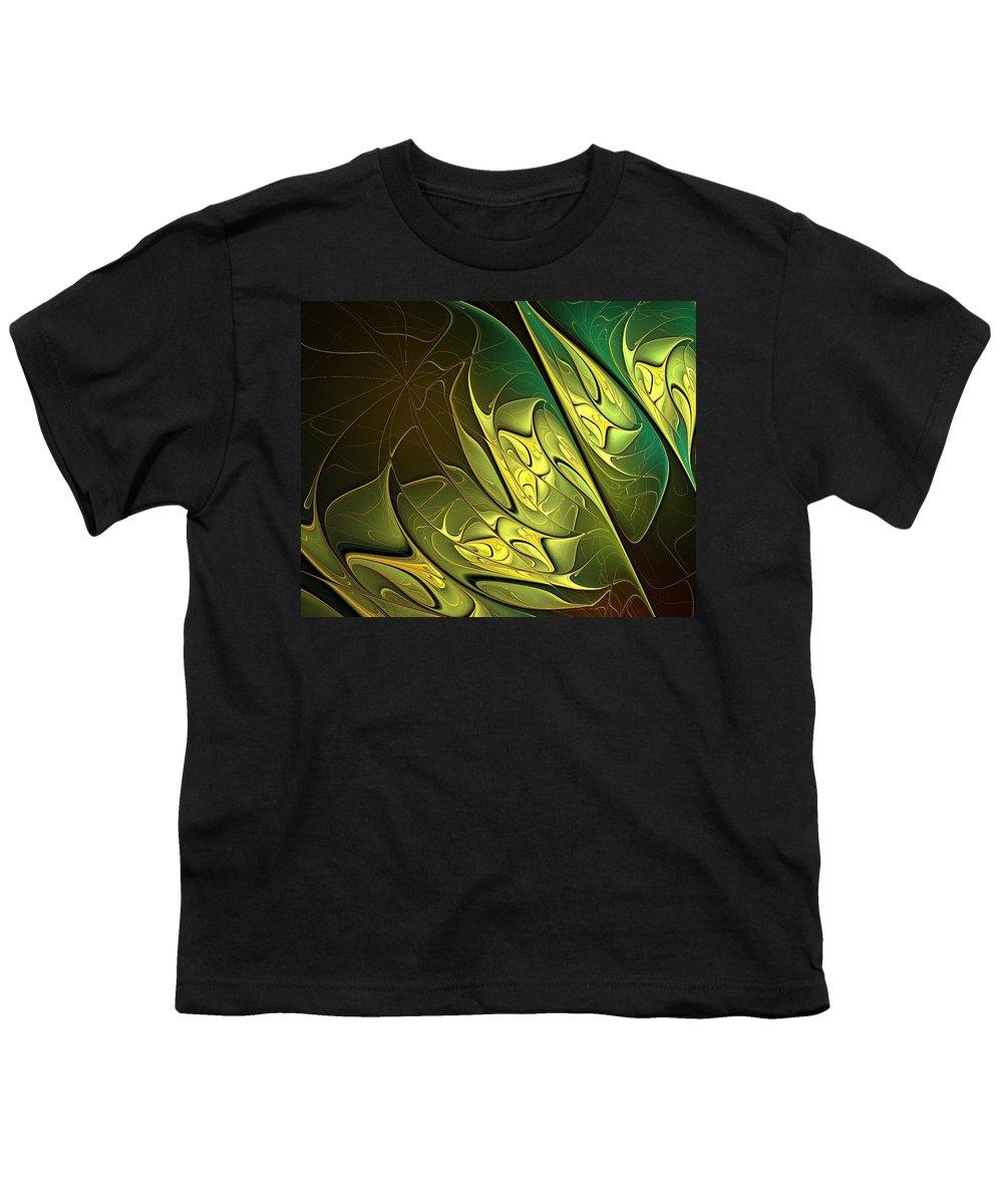 Digital Art Youth T-Shirt featuring the digital art New Leaves by Amanda Moore