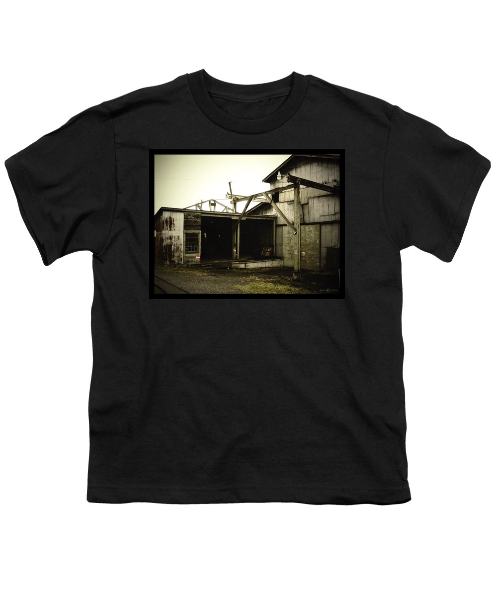 Warehouse Youth T-Shirt featuring the photograph No Trespassing by Tim Nyberg