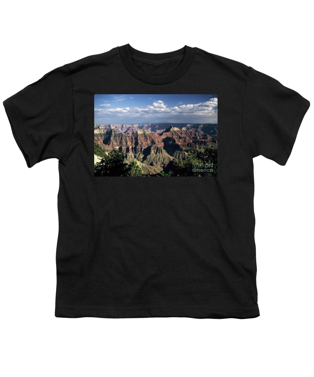 Grand Canyon; National Parks Youth T-Shirt featuring the photograph North Rim by Kathy McClure
