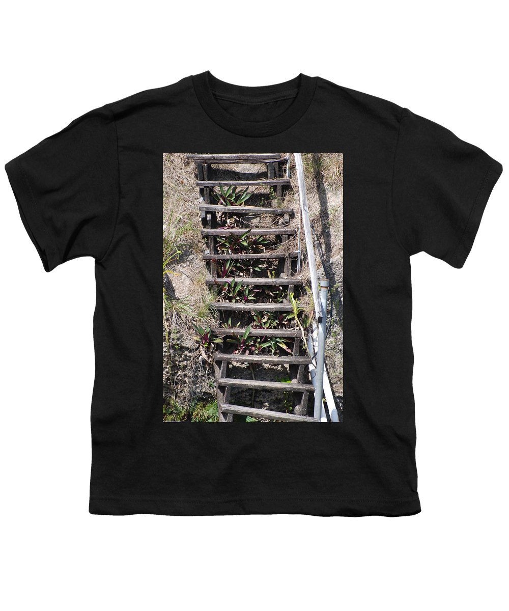 Stairs Youth T-Shirt featuring the photograph Nowhere Stairs by Rob Hans