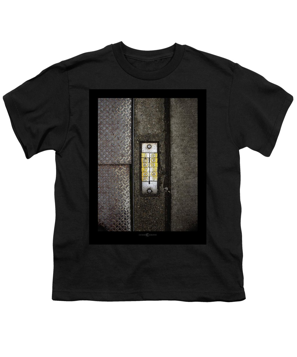 Numbers Youth T-Shirt featuring the photograph Numbers On The Sidewalk by Tim Nyberg