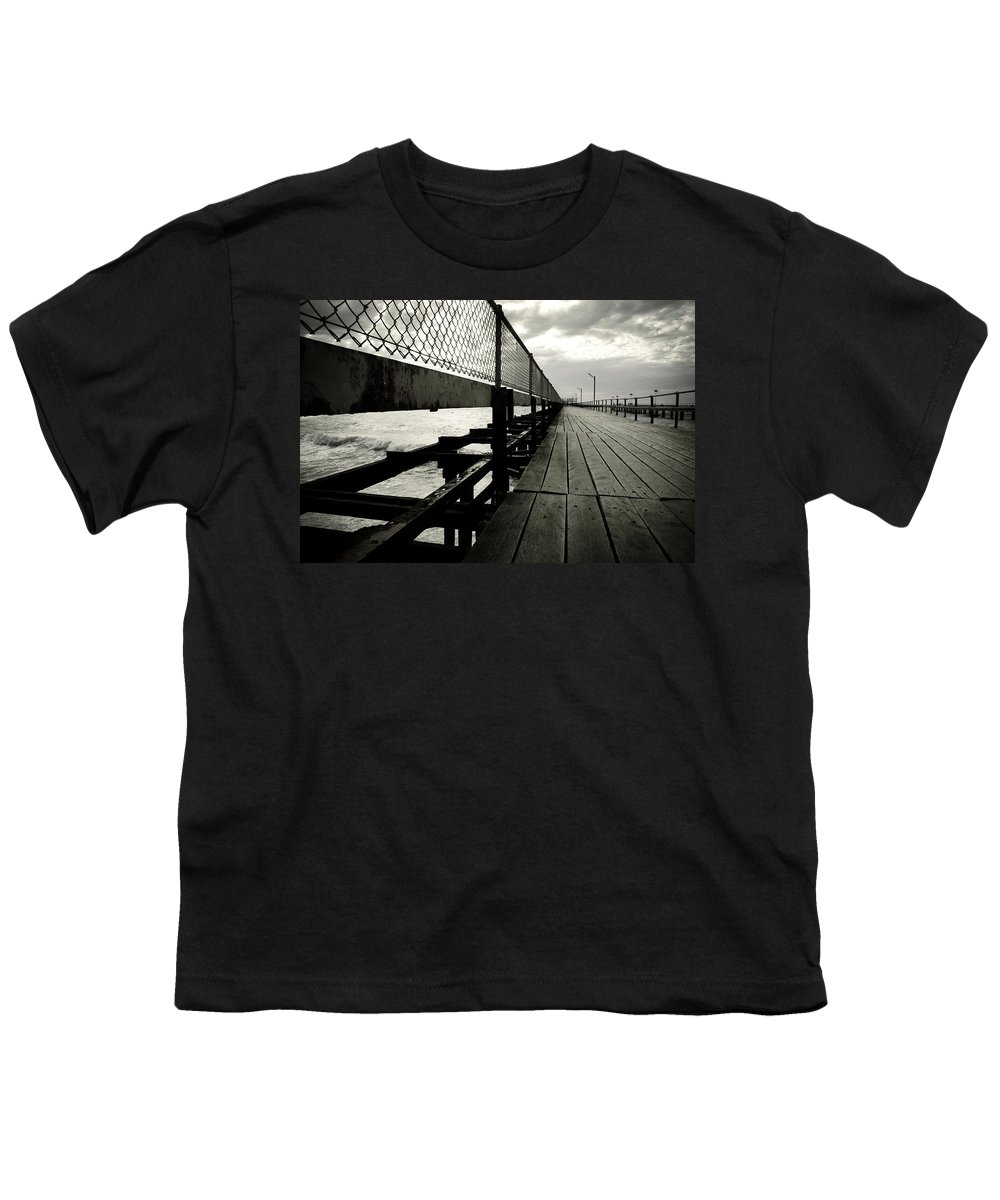 Old Youth T-Shirt featuring the photograph Old Jetty by Kelly Jade King