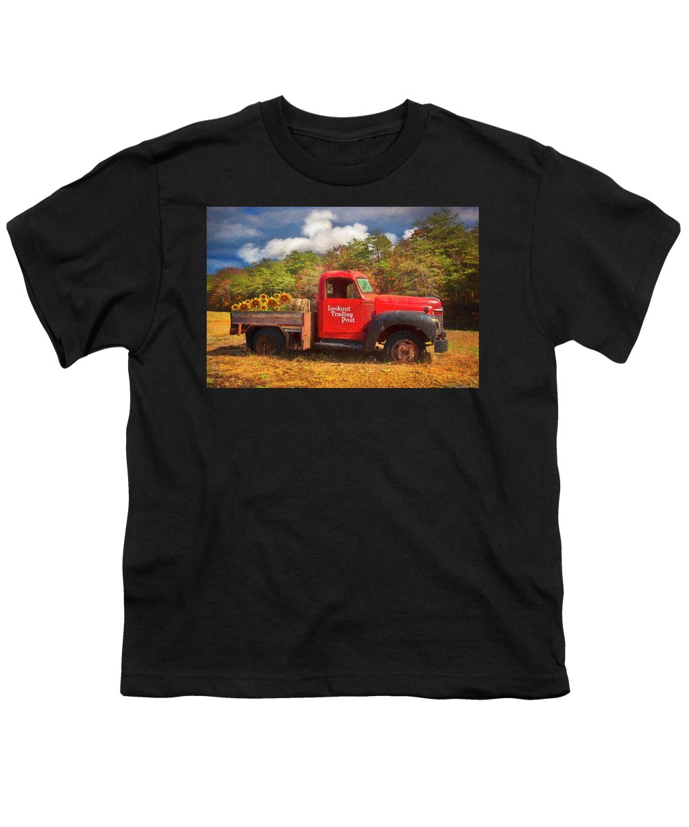 Old Red Truck On The Farm Oil Painting Youth T Shirt For Sale By Debra And Dave Vanderlaan