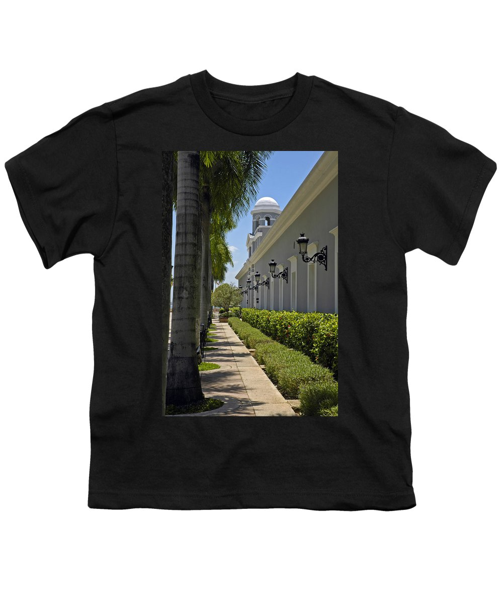 Travel Youth T-Shirt featuring the photograph Old San Juan Puerto Rico by Tito Santiago