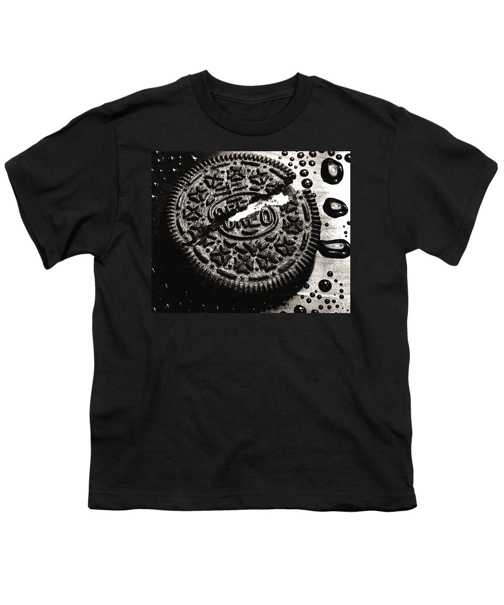 Cookie Youth T-Shirt featuring the photograph Oreo Cookie by Nancy Mueller