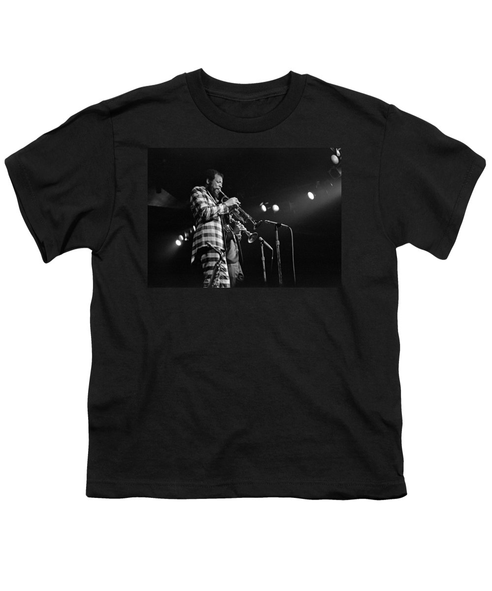 Ornette Colman Youth T-Shirt featuring the photograph Ornette Coleman On Trumpet by Lee Santa