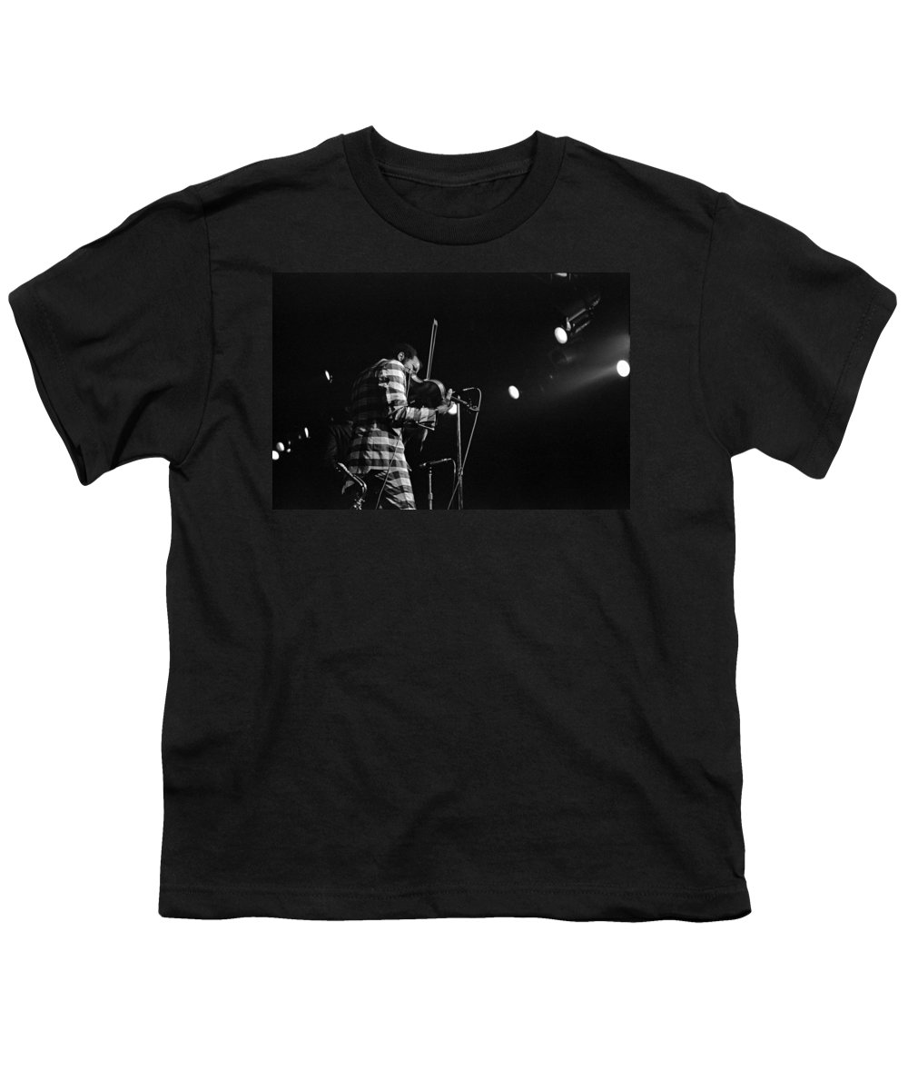 Ornette Coleman Youth T-Shirt featuring the photograph Ornette Coleman On Violin by Lee Santa