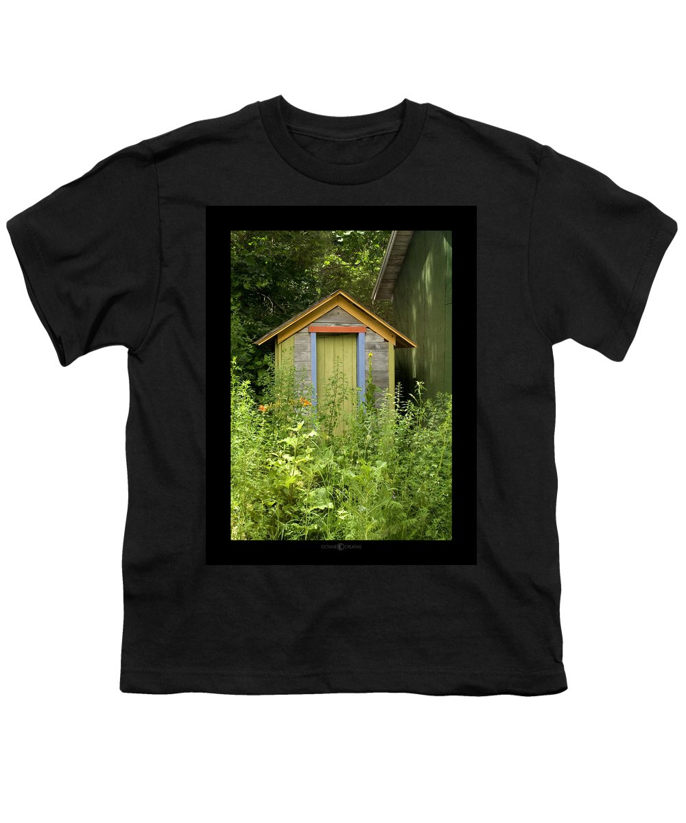 Outhouse Youth T-Shirt featuring the photograph Outhouse by Tim Nyberg