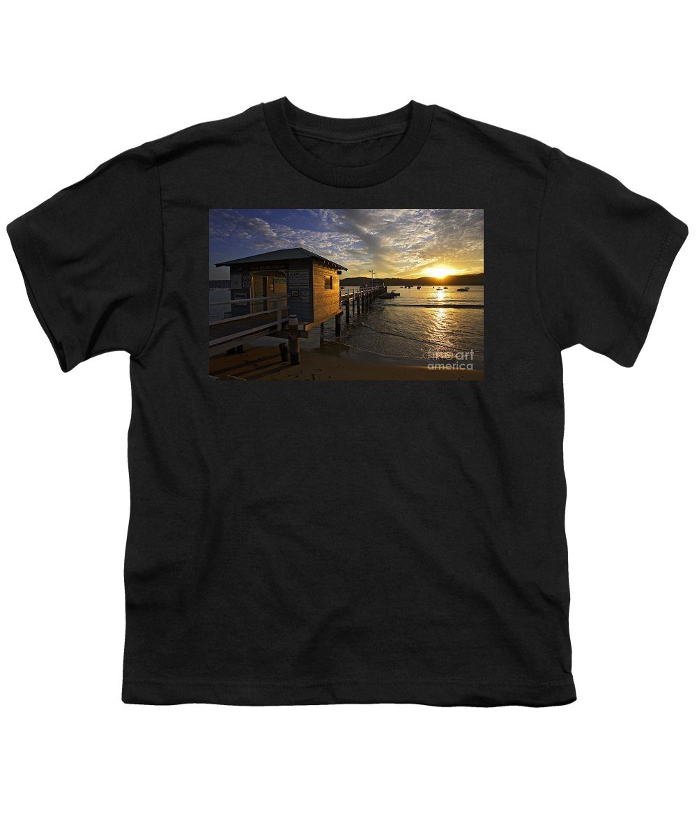 Palm Beach Sydney Australia Sunset Water Pittwater Youth T-Shirt featuring the photograph Palm Beach Sunset by Avalon Fine Art Photography