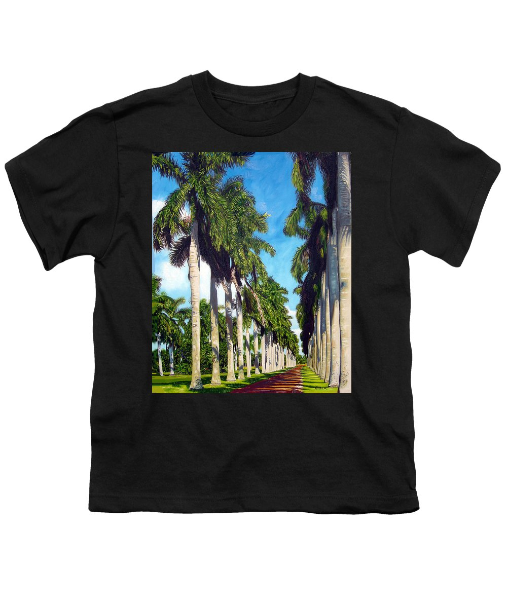 Palms Youth T-Shirt featuring the painting Palms by Jose Manuel Abraham