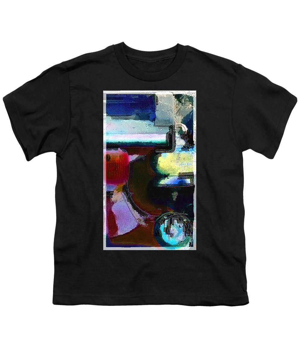 Abstract Youth T-Shirt featuring the photograph panel two from Centrifuge by Steve Karol
