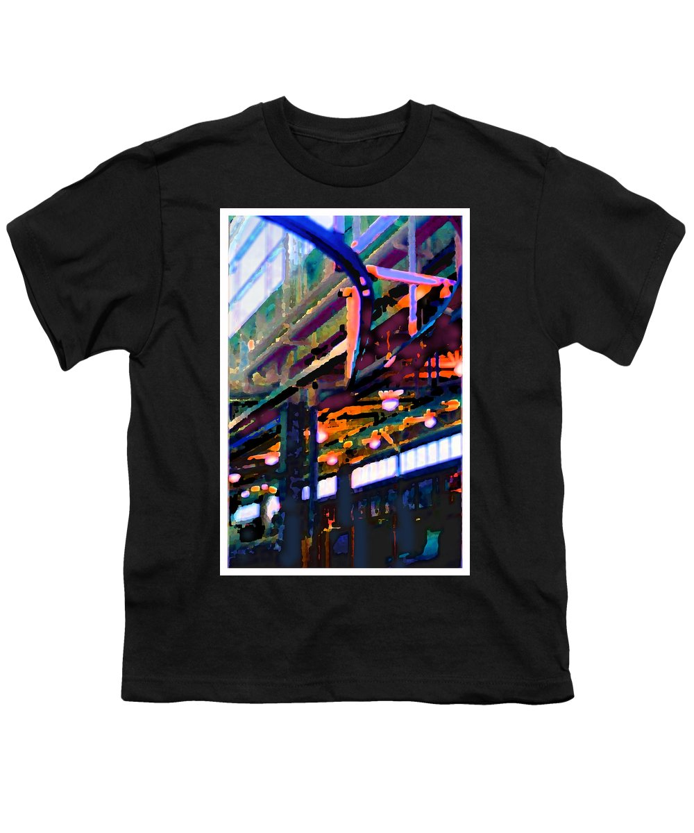 Abstract Youth T-Shirt featuring the photograph panel two from Star Factory by Steve Karol